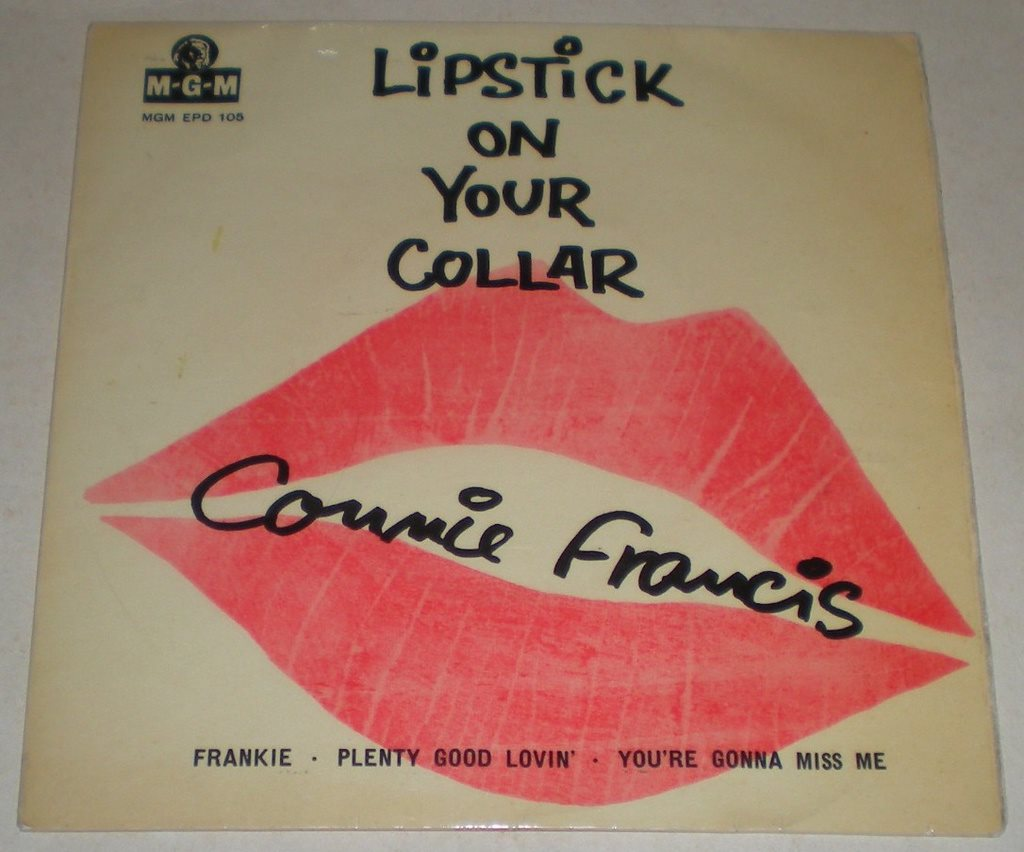 Connie Francis OMSLAG EP Lipstick on your collar 1959