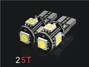 2st - T10 Canbus 5-SMD 5050 Ultra White