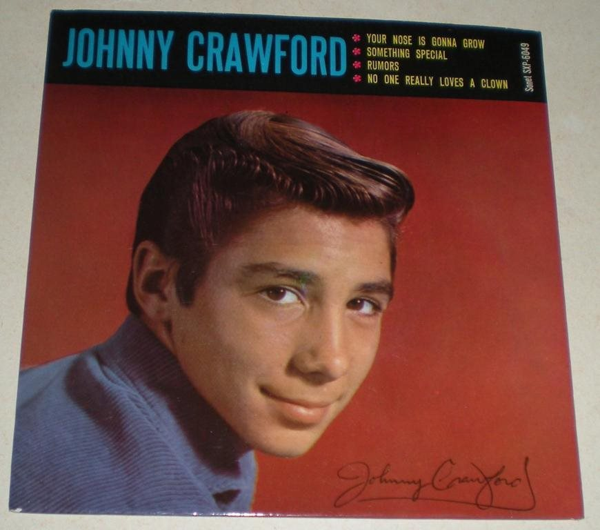 Johnny Crawford OMSLAG EP Your nose is gonna grew 1962 VG++