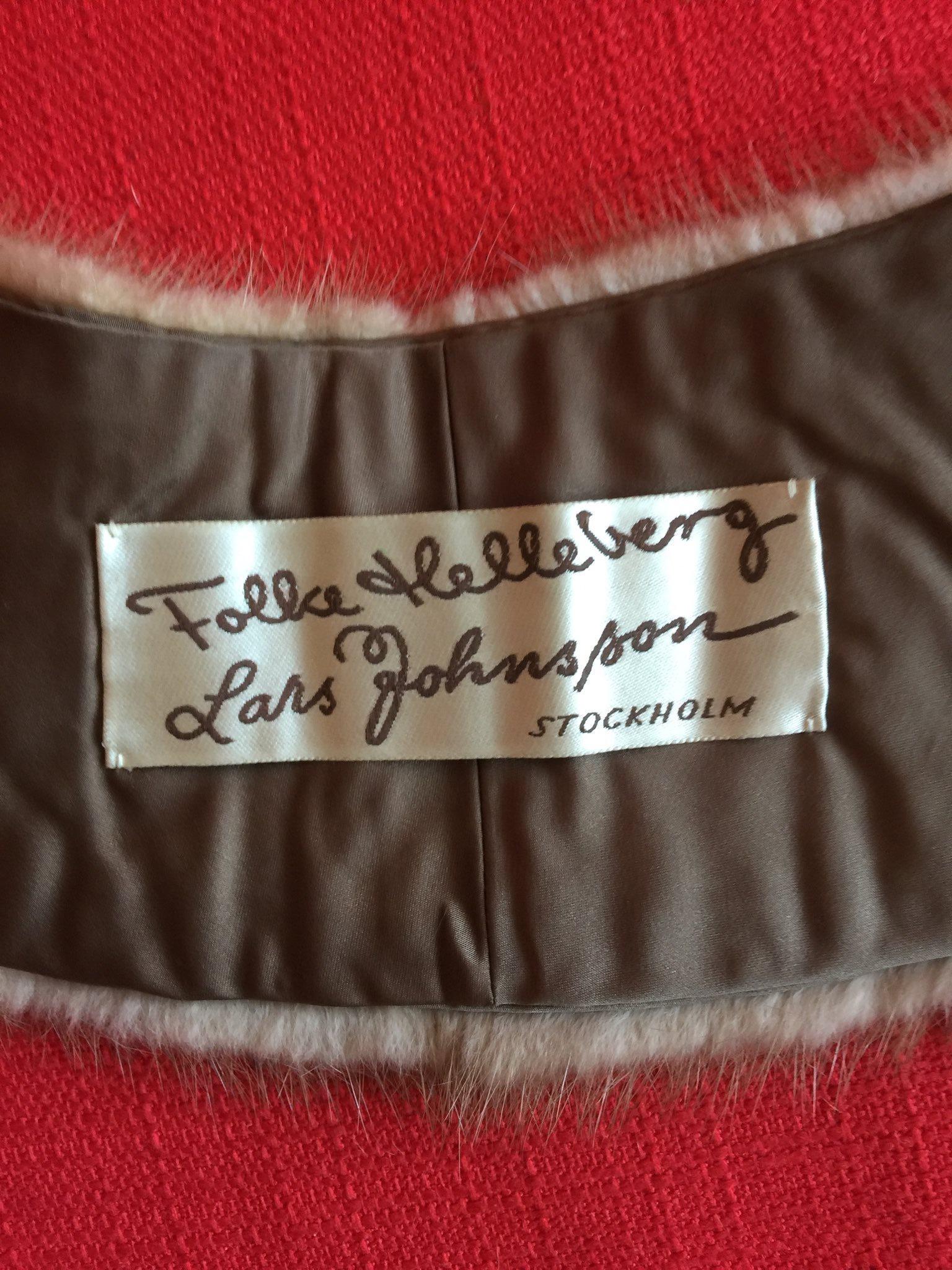 Pälskrage/ minkkrage äkta mink päls. Beige. Vintage. Vintage. Vintage. Handarbete. 3cf697