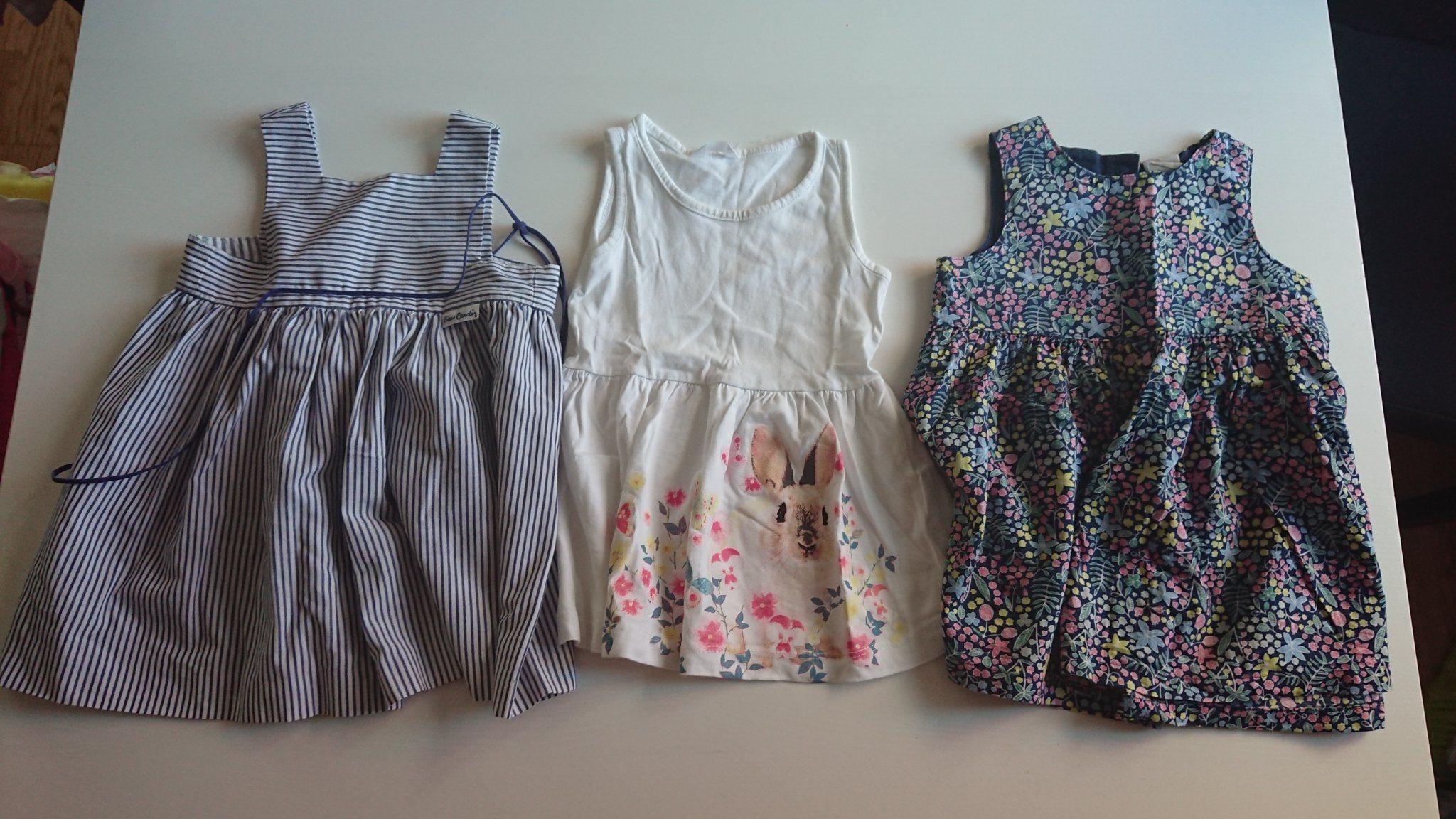 4716475b23e0 Klädpaket med 3 fina klänningar storlek 80 (341497016) ᐈ Köp på Tradera