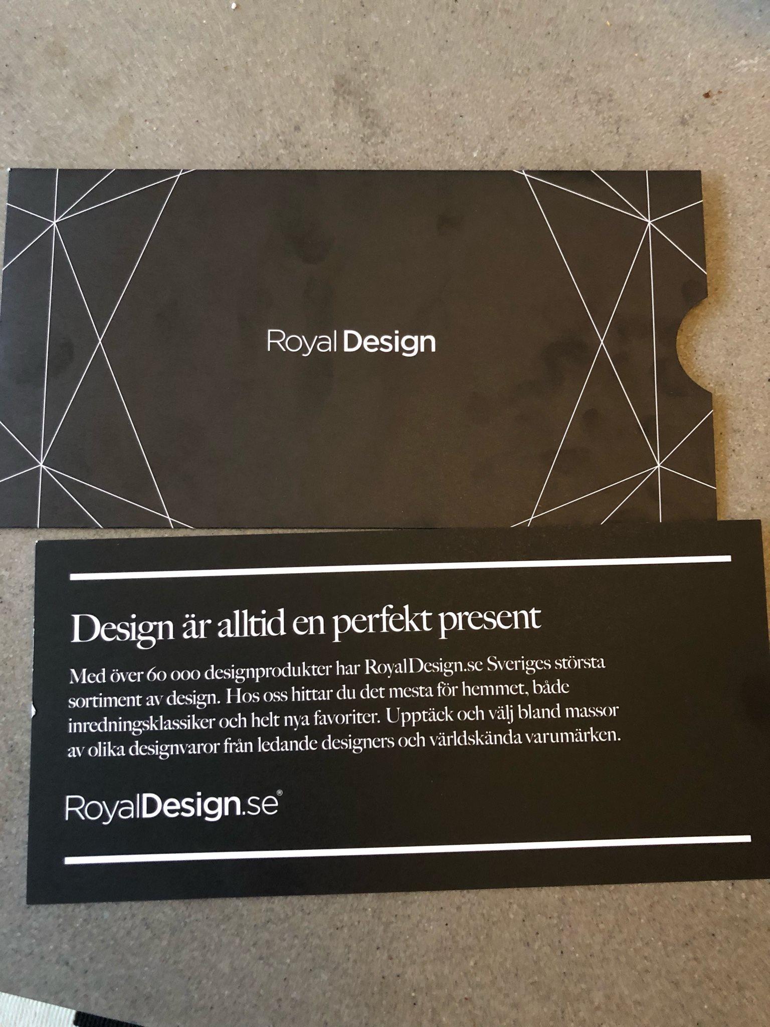 Presentkort royal design (336874962) ᐈ Köp på Tradera 4f926457ad3b1