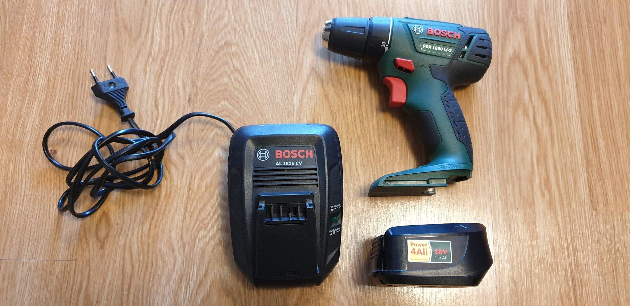Fräscha Bosch Skruvdragare PSR 1800 LI-2, inklusive bat.. (353343213) ᐈ SI-06