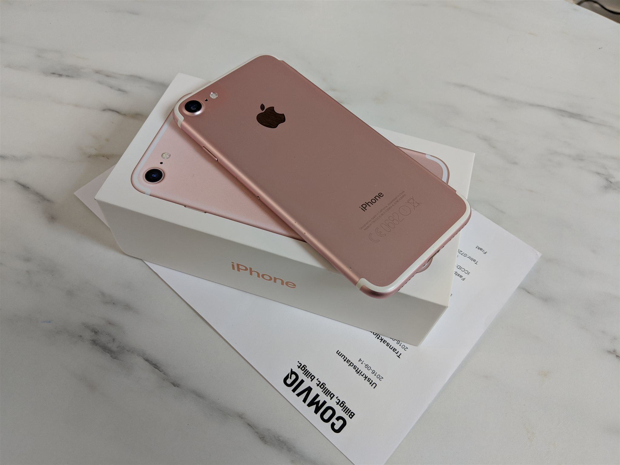 iPhone 7 Rosé Guld 32GB i nyskick med kvitto (327168261) ᐈ Köp på ... db7bf8b2de63f