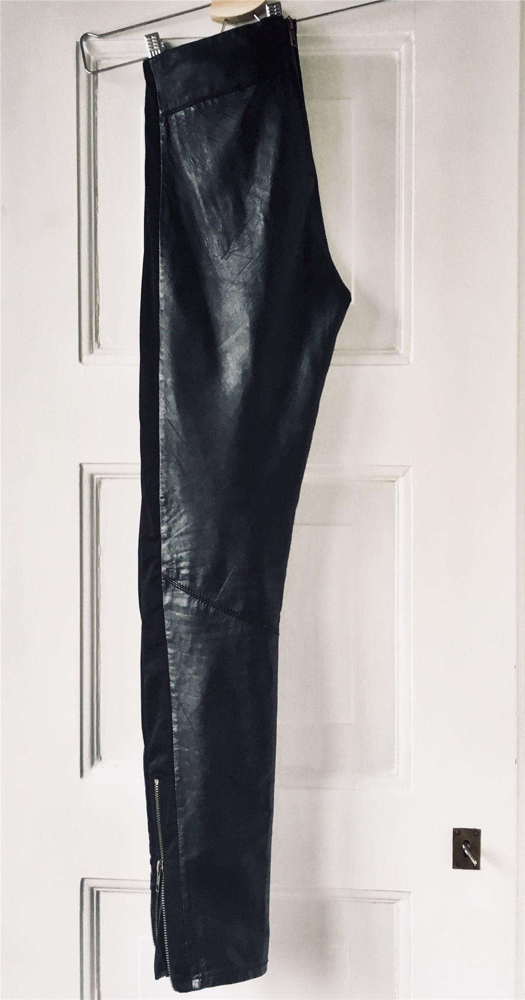 03063abf5302 Äkta läder (tunt skinn) TWIST & TANGO skinnbyxor läderbyxor svart leggings  34 ...