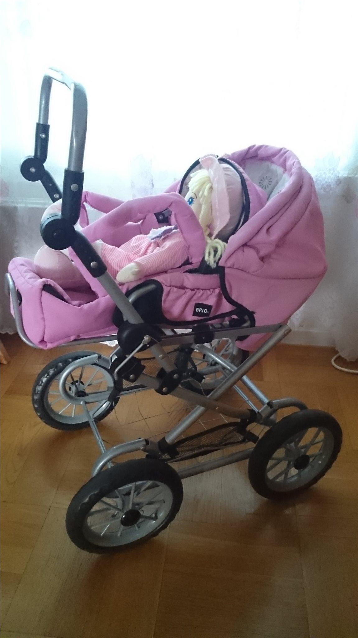 dockvagn trä rosa