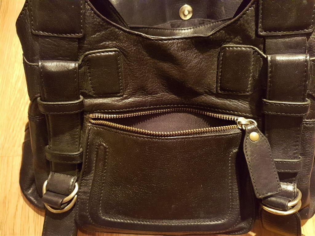 Handväska åhlens : Handv?ska wera svart l?der p? tradera handv?skor i