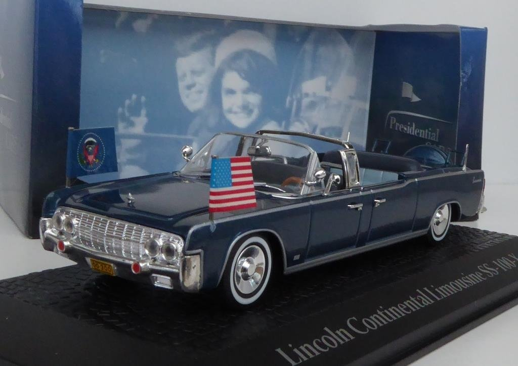 1:43 NOREV Lincoln Continental Saloon ss-100-x J.F Kennedy 1963 Blue