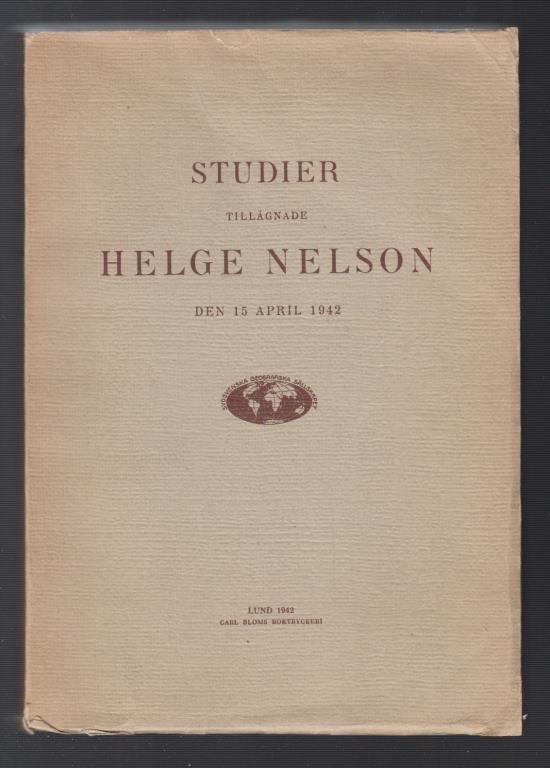 Studier tillägnade Helge Nelson den 15 april 1942.
