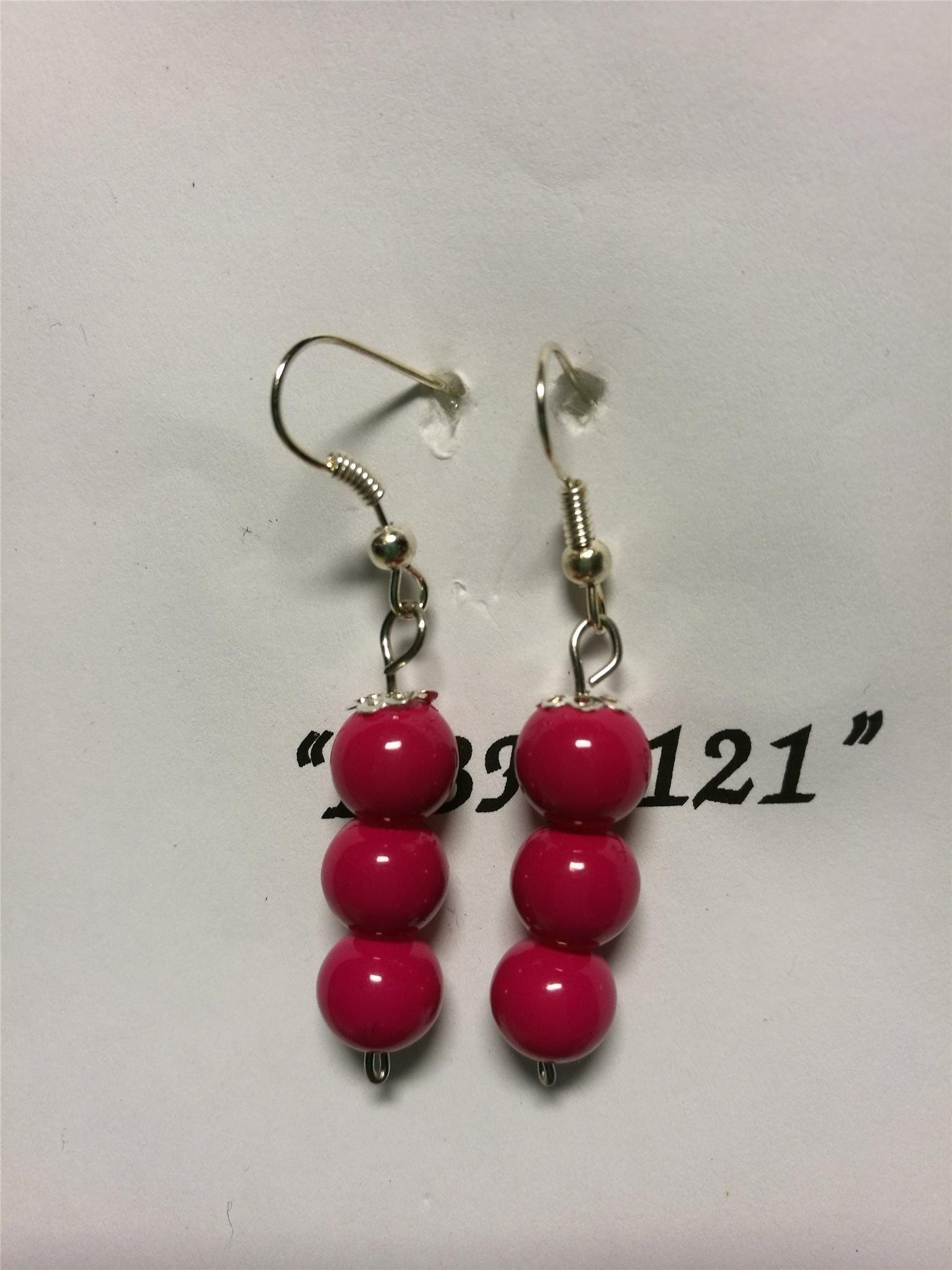 787d240148ed Örhänge med röda glaspärlor (347512426) ᐈ Köp på Tradera