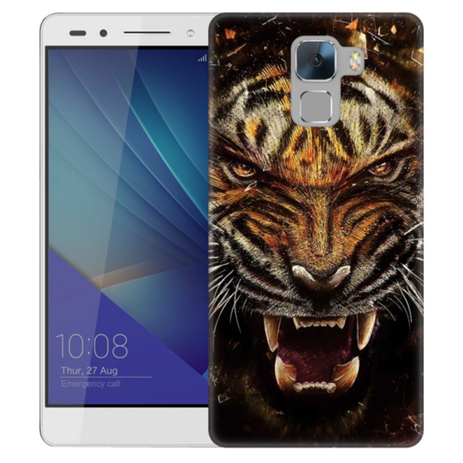 Huawei Honor 7 Skal Rytande Tiger