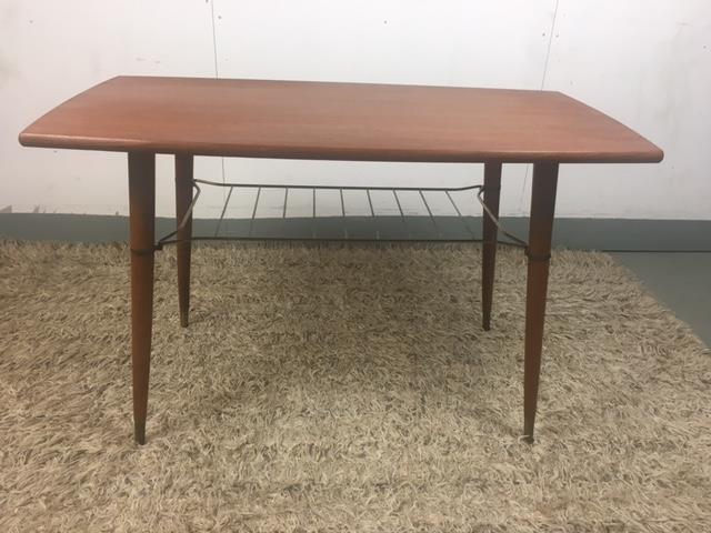 Soffbord, teak, tidningshylla, vintage, 50 tal. på Tradera.com ...