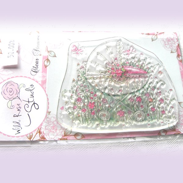 Clear stamps från Wild Roses - babyvagn