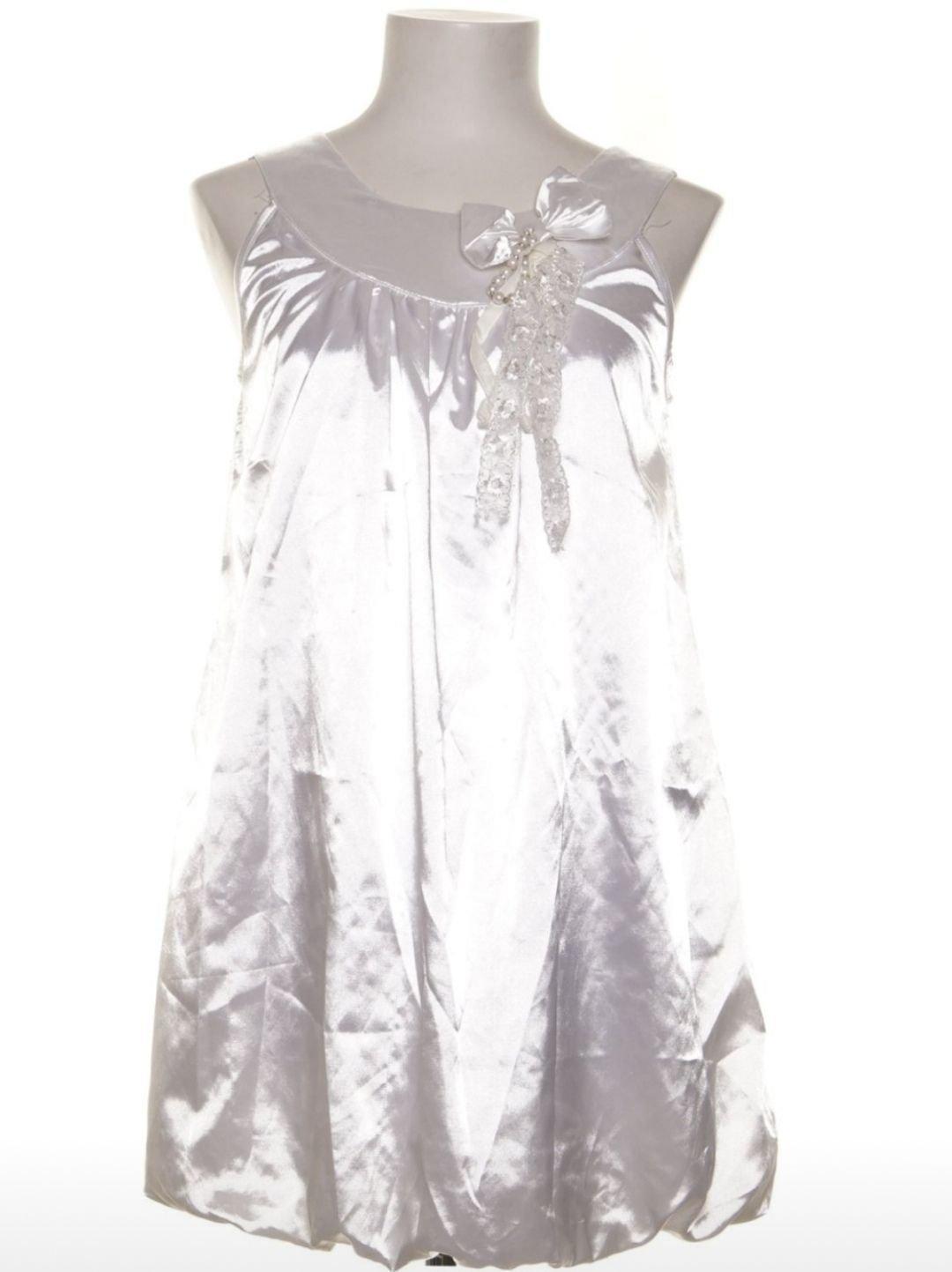 Klänning satin dress bow lolita examen student (420759233