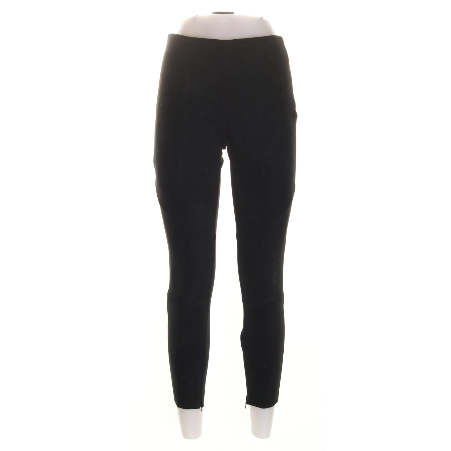 Zara Basic, Treggings, Strl: S, Svart, Mockaimitation
