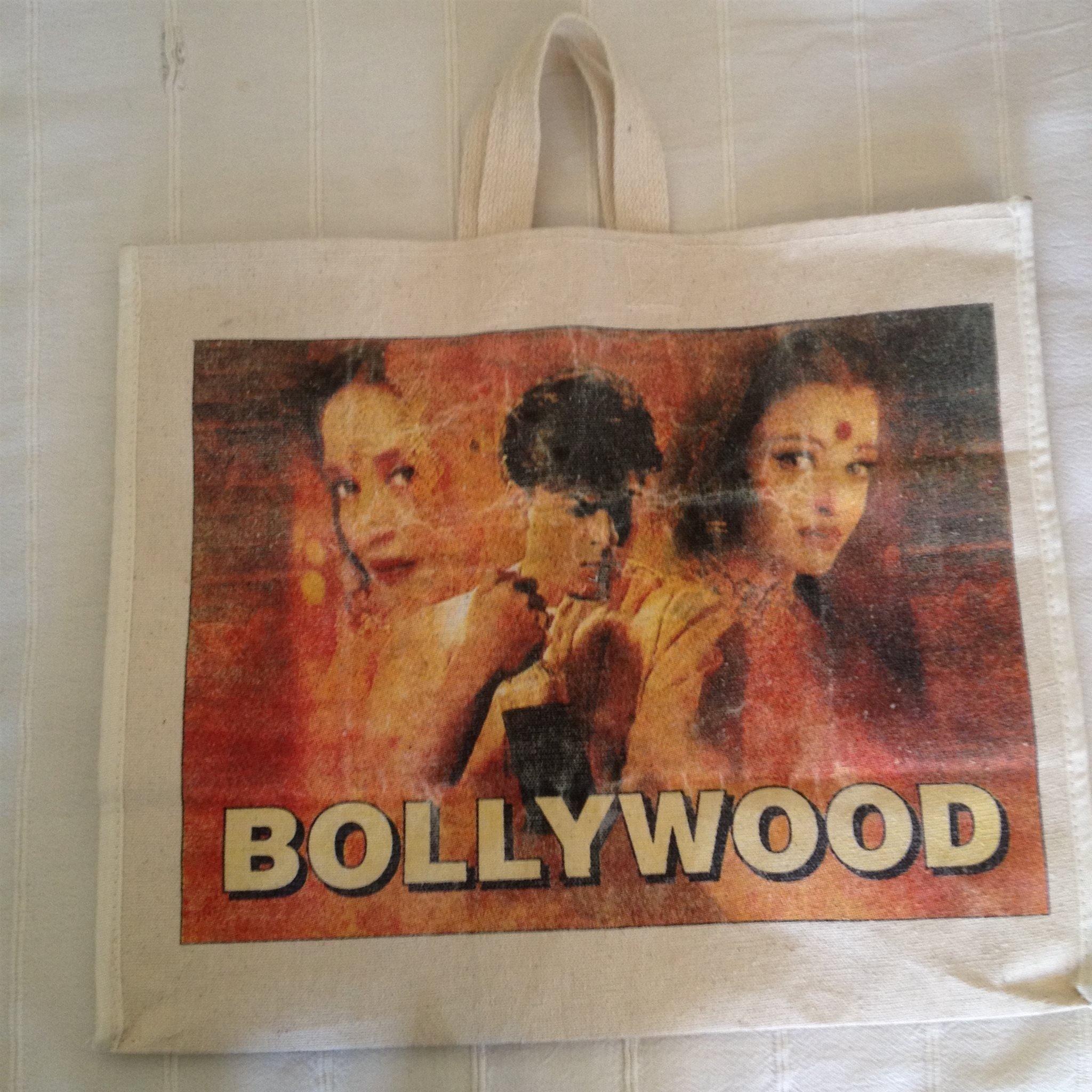 bb0c12c56f6d Bollywood bag väska canvas stor model slitstark shoppingbag tygpåse  strandväska ...
