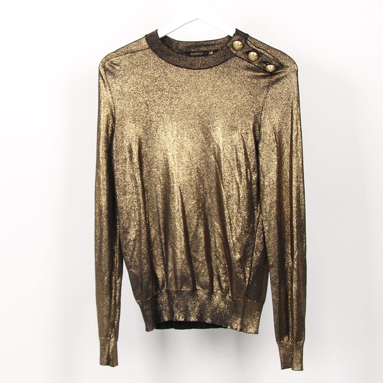 Guldig tröja från Balmain x H&M, strl 38