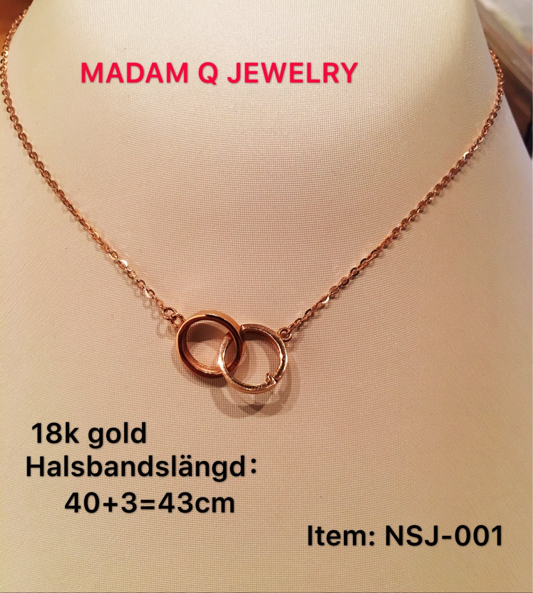 Äkta 18k guld halsband smycken (330155970) ᐈ Köp på Tradera 8119b3779aeda