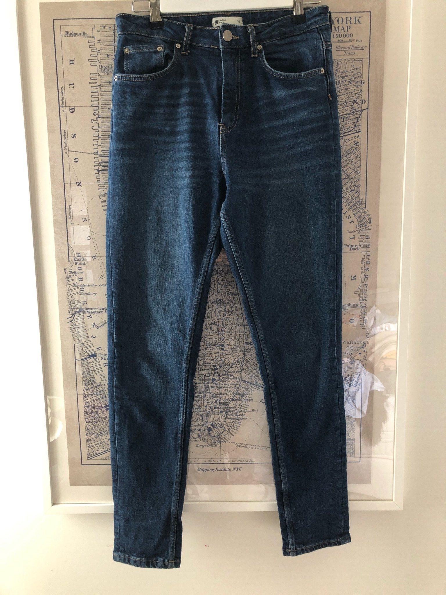 fc3bf9419e8a Jeans, hög midja slim fit fr Gina strl 38 (343616896) ᐈ Köp på Tradera