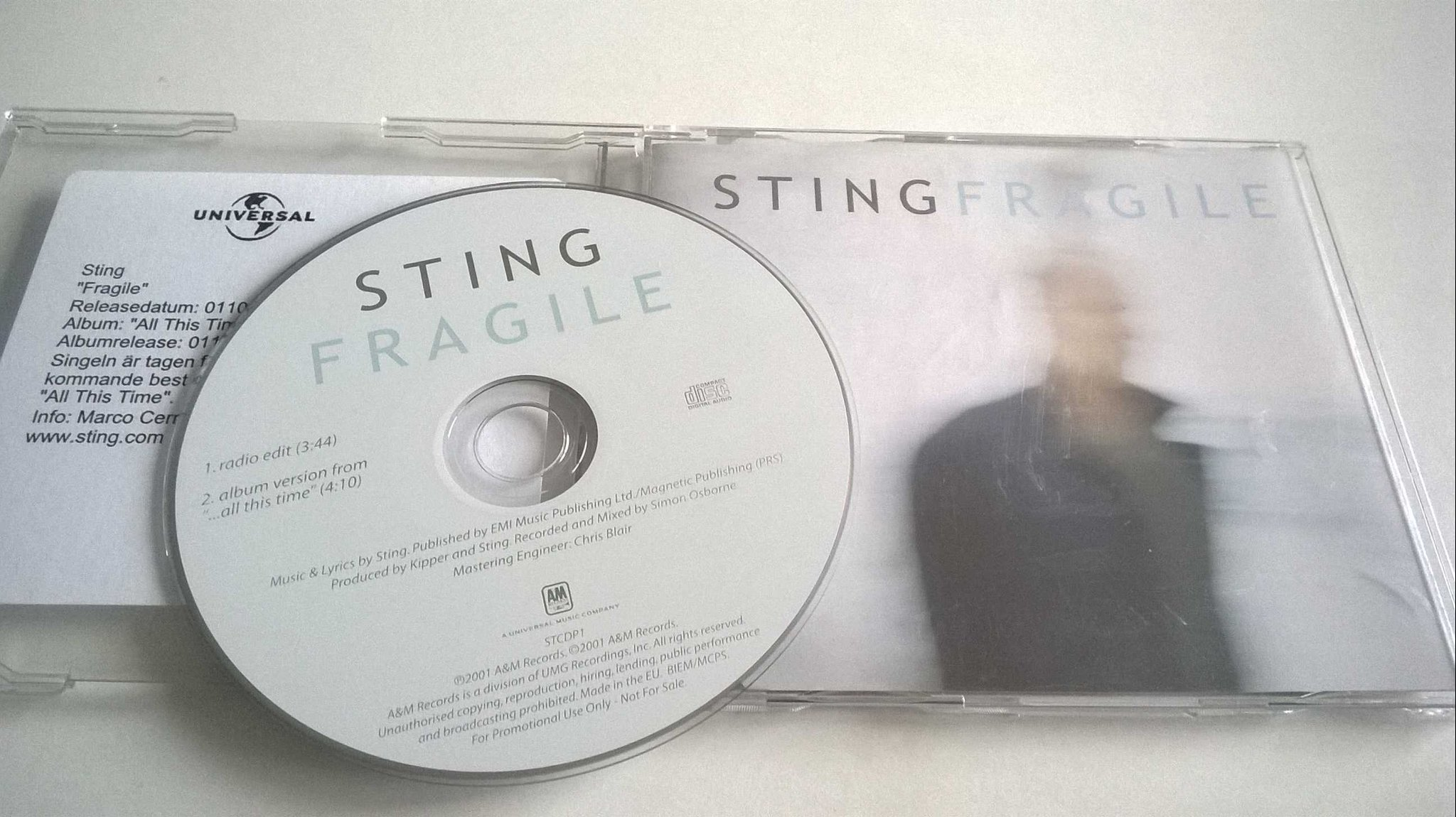 Sting - Fragile, CD, Single