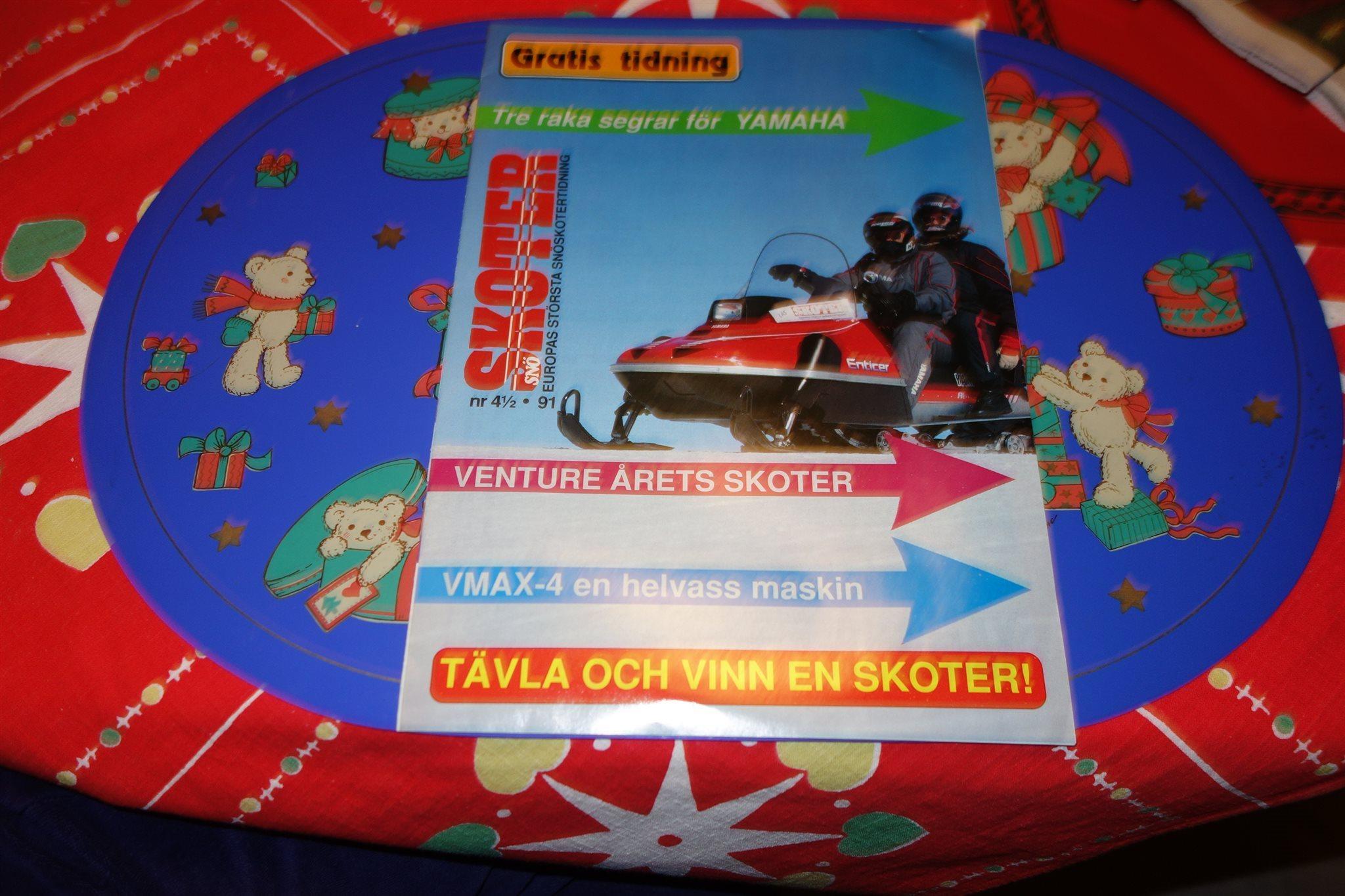 Snskoter Nr 4 1 2 1991 Yamaha Enticer Phazer II Viking Venture Mm