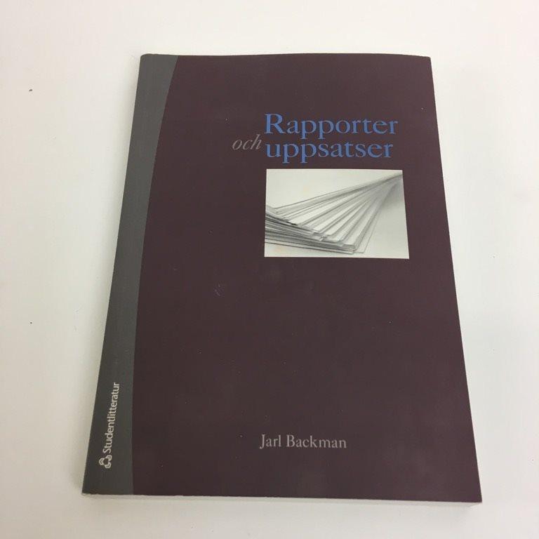 jarl backman rapporter och uppsatser