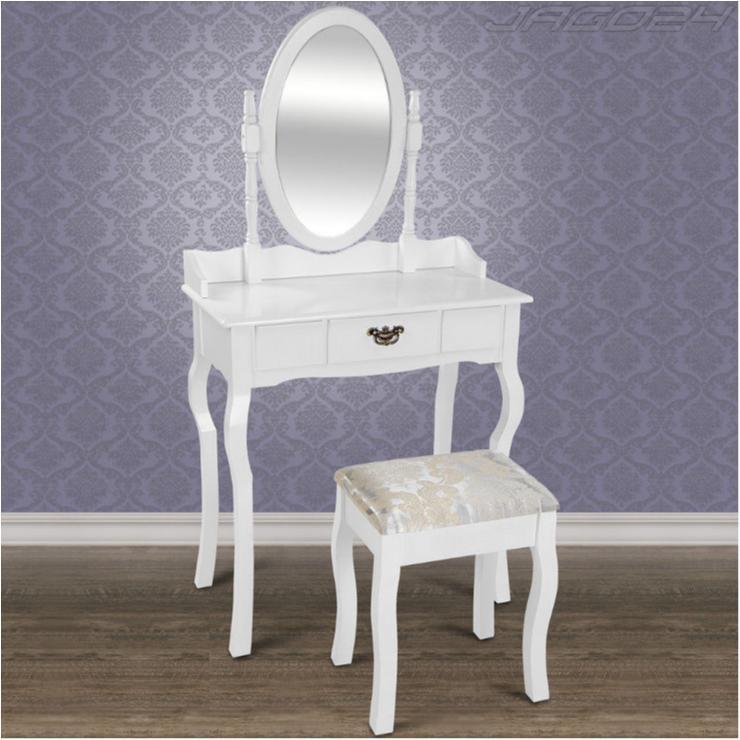 Sminkbord Med Låda Spegel Och Pall Antikstil Smink S2 På Tradera Com