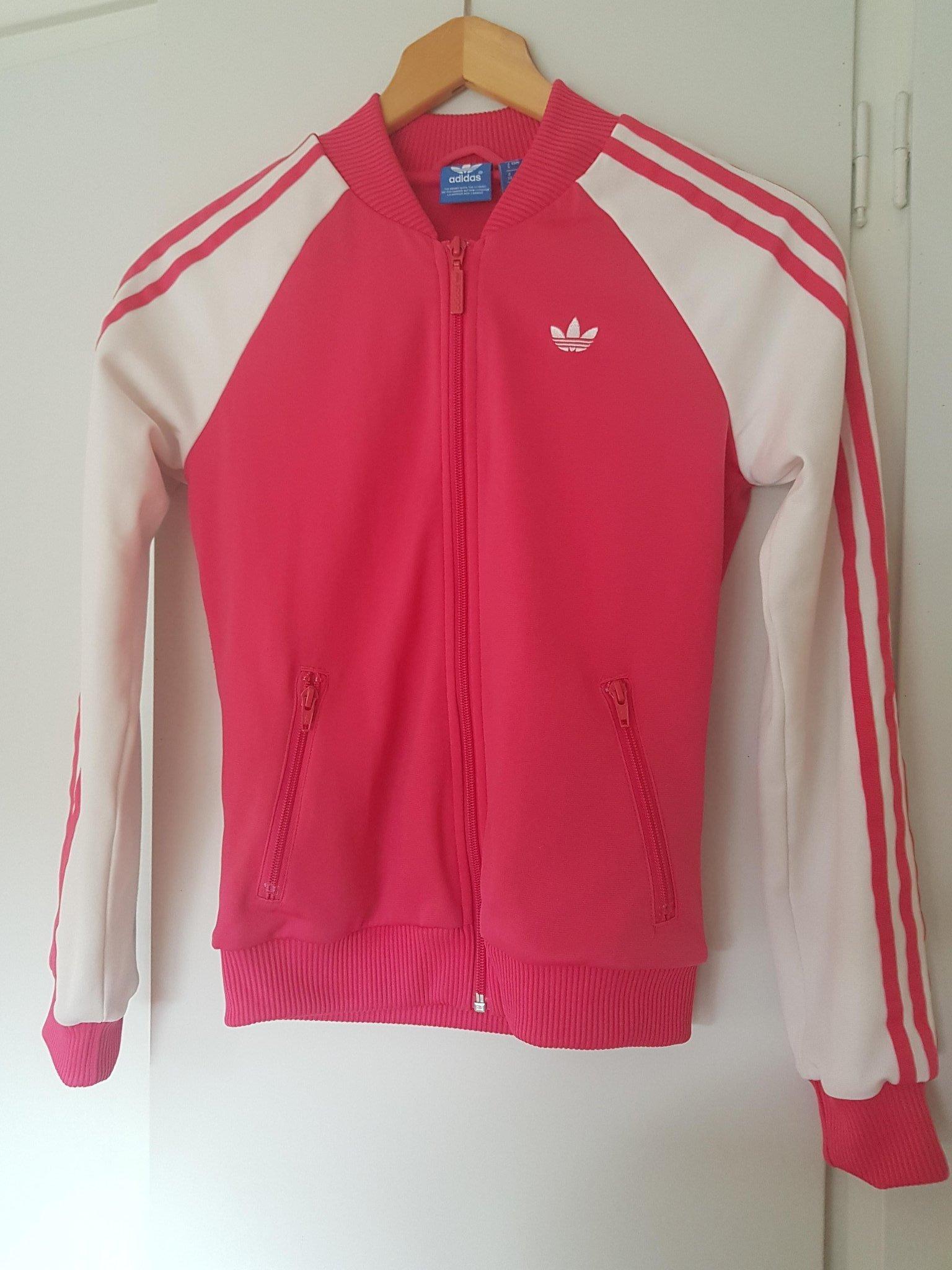 Adidas jacka fodrad, rosa och vit, strlk 34 (419190790) ᐈ
