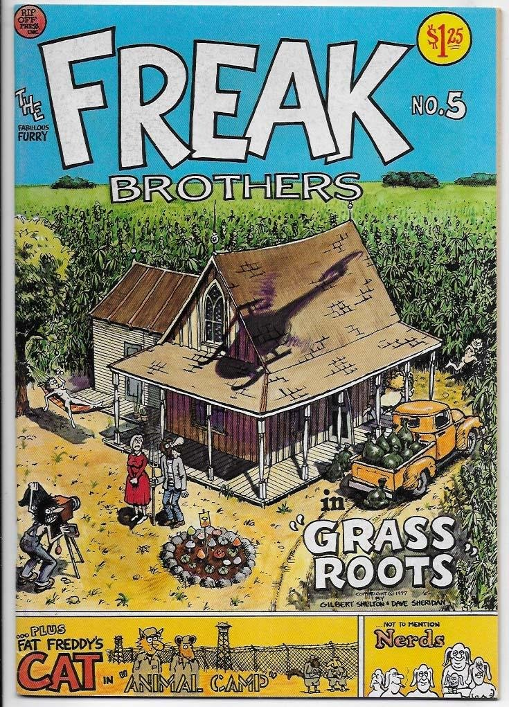 Fabulous Furry Freak Brothers # 5 VF/NM 3rd Print Underground