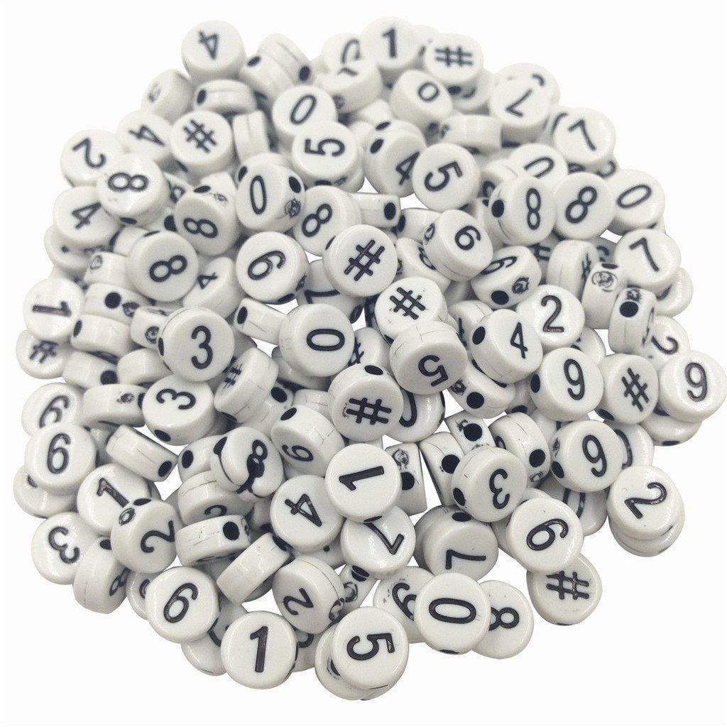 pärlor med siffror