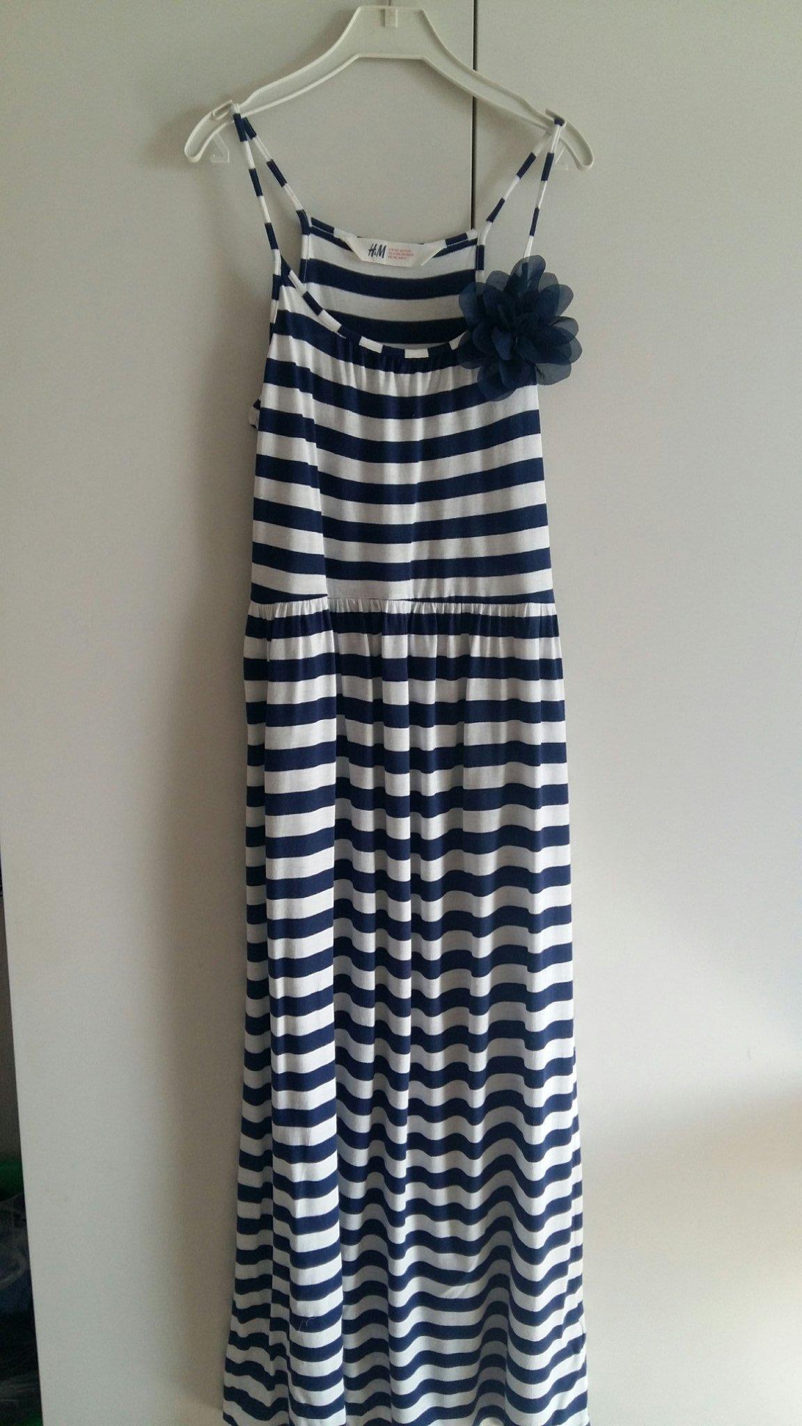 862e24366f73 Randig långklänning med rosett stl 152 (352780519) ᐈ Köp på Tradera