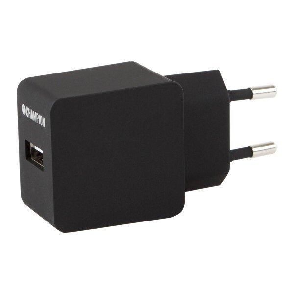 Köp Champion Dual USB Laddare 230V 2A Vit fraktfritt!   Usb
