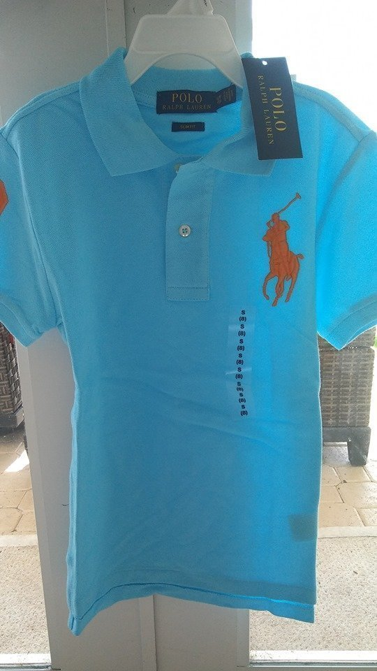 Ny RALPH LAUREN Pike' Slim Fit Spring Blue LARGE 14-16 158/164 postas fr E-tuna