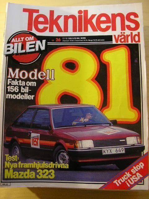 TEKNIKENS VÄRLD NR 26 1980   TEST: MAZDA 323