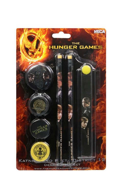 "Hunger Game Movie Stationary Set on Backercard ""Katniss and Peeta District 12"""