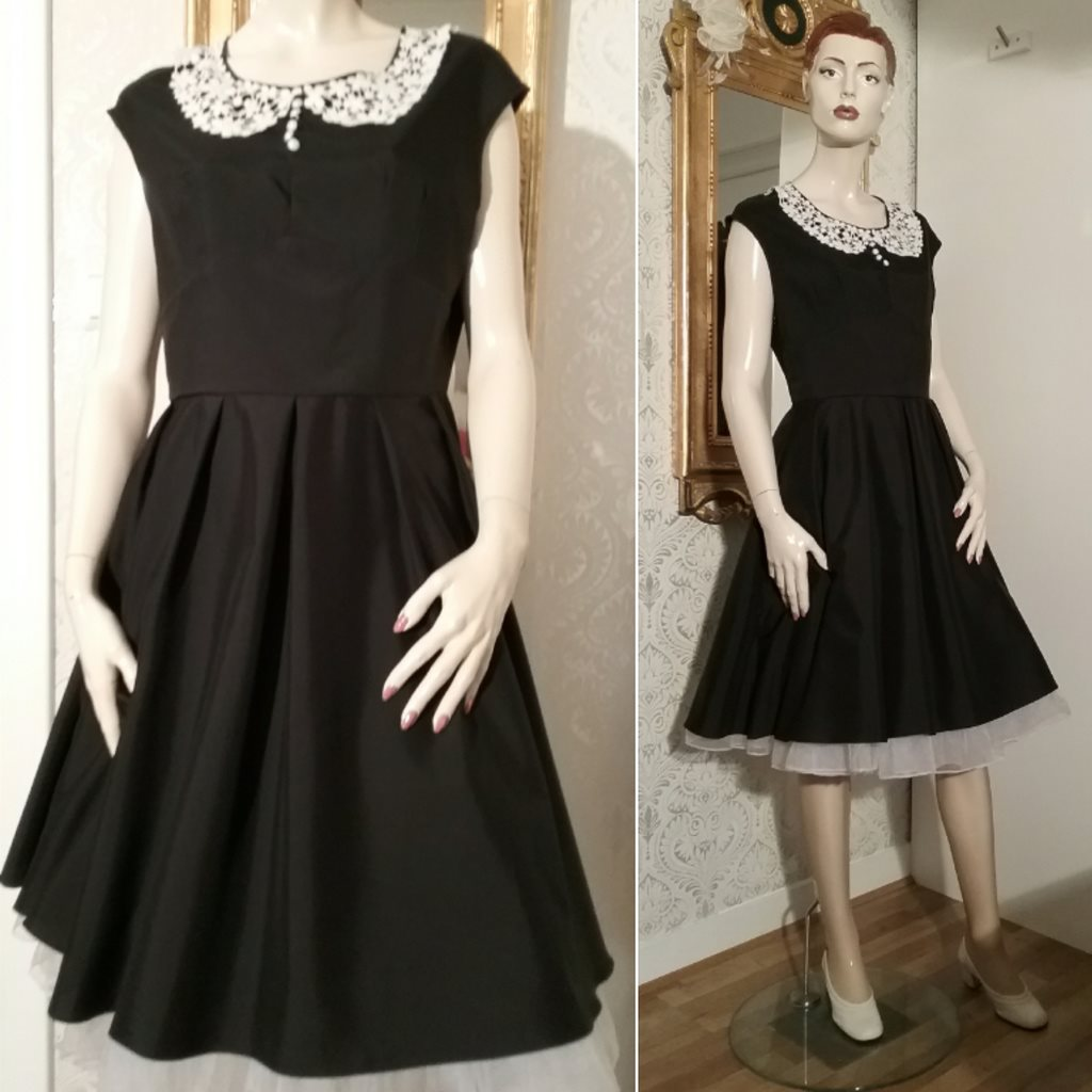 svart 50 tals klänning