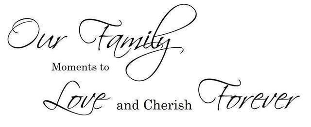 ( Väggdekor, Väggdekor, Väggdekor, Väggord ) Our Family 2debfd