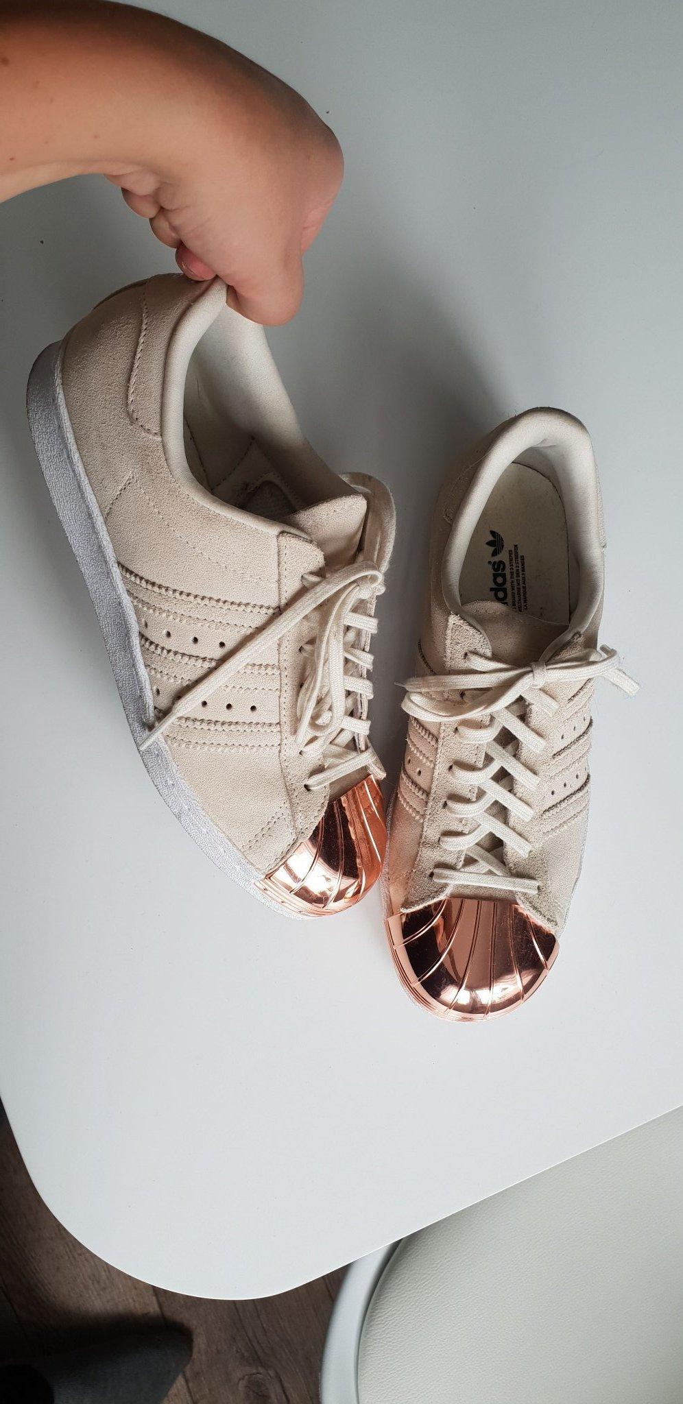Adidas superstar metallic toe, rosé gold