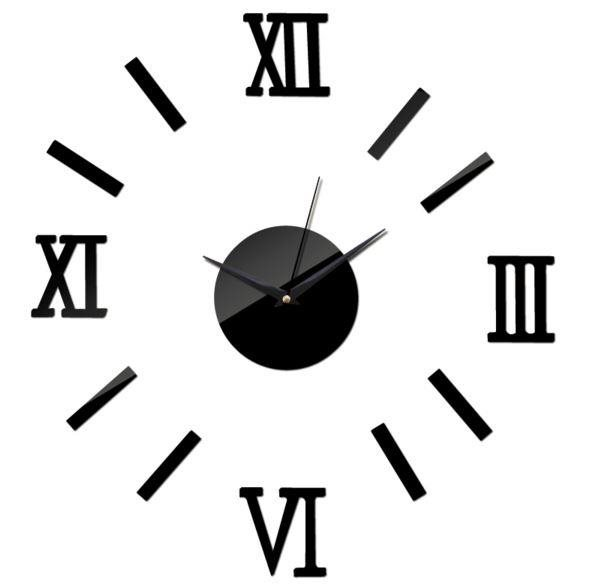 Väggklocka lösa siffror romersk svart