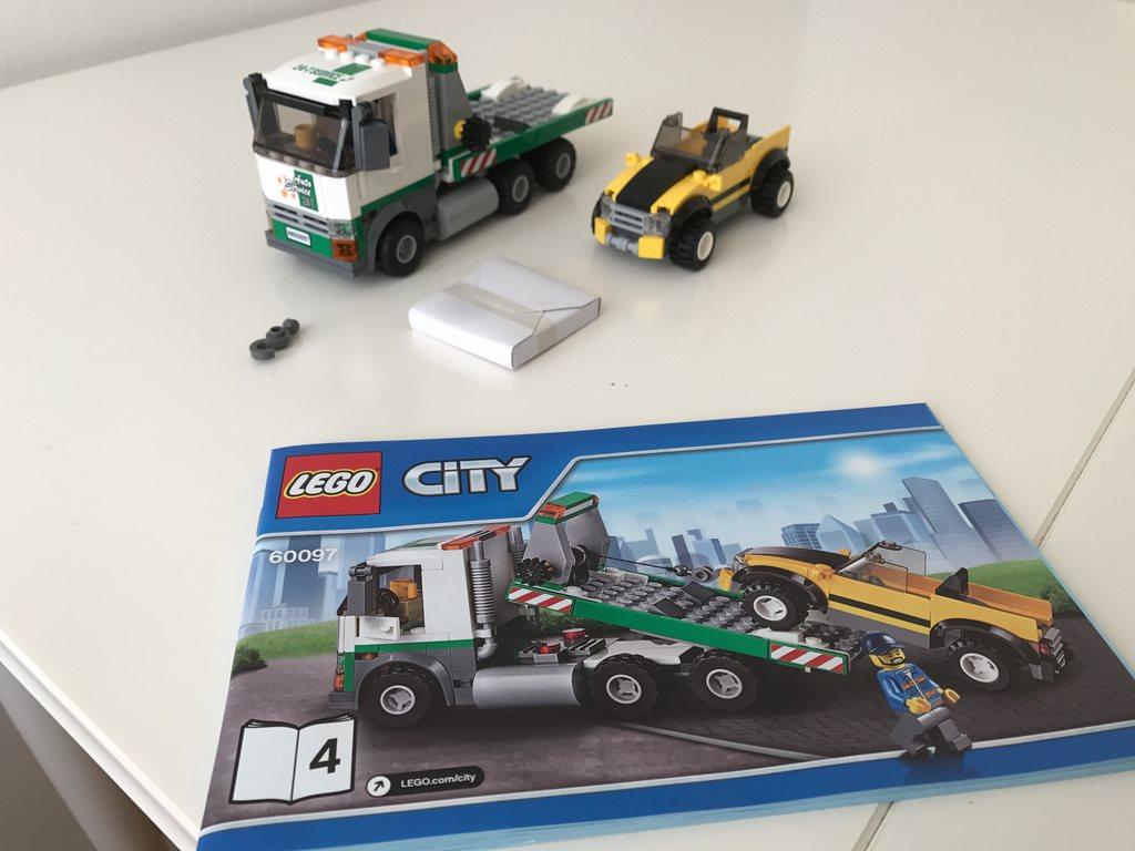 LEGO City Bärgningsbil och bil från från från set 60097, nytt 2e4811
