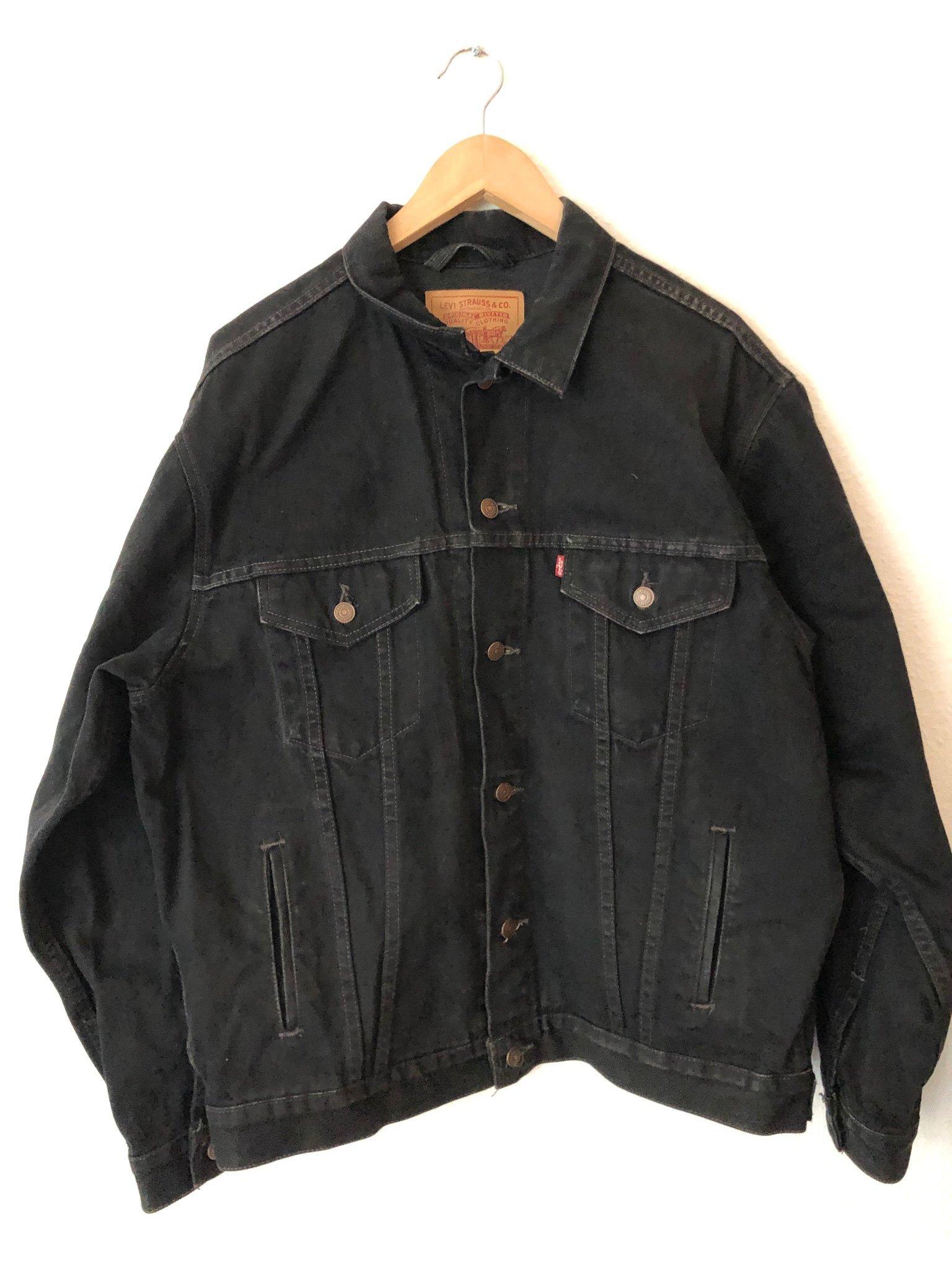 släpp information om billigt pris anländer Levis jeansjacka svart large (384665501) ᐈ Köp på Tradera