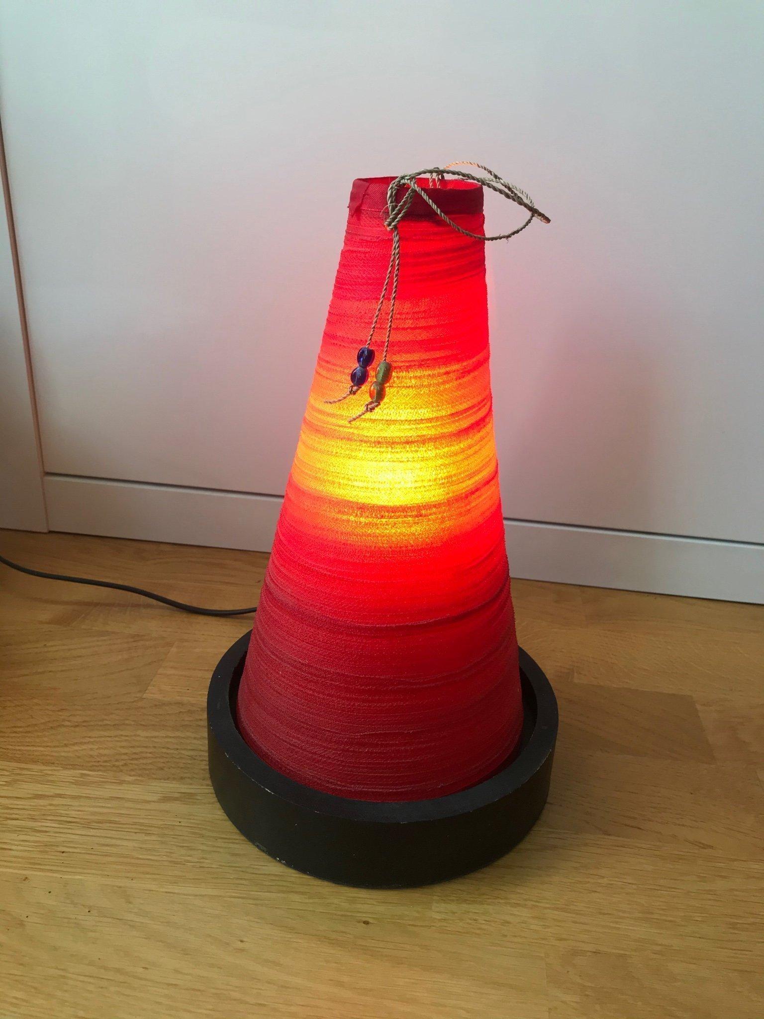 Lampa med rött sken (414563099) ᐈ Köp på Tradera