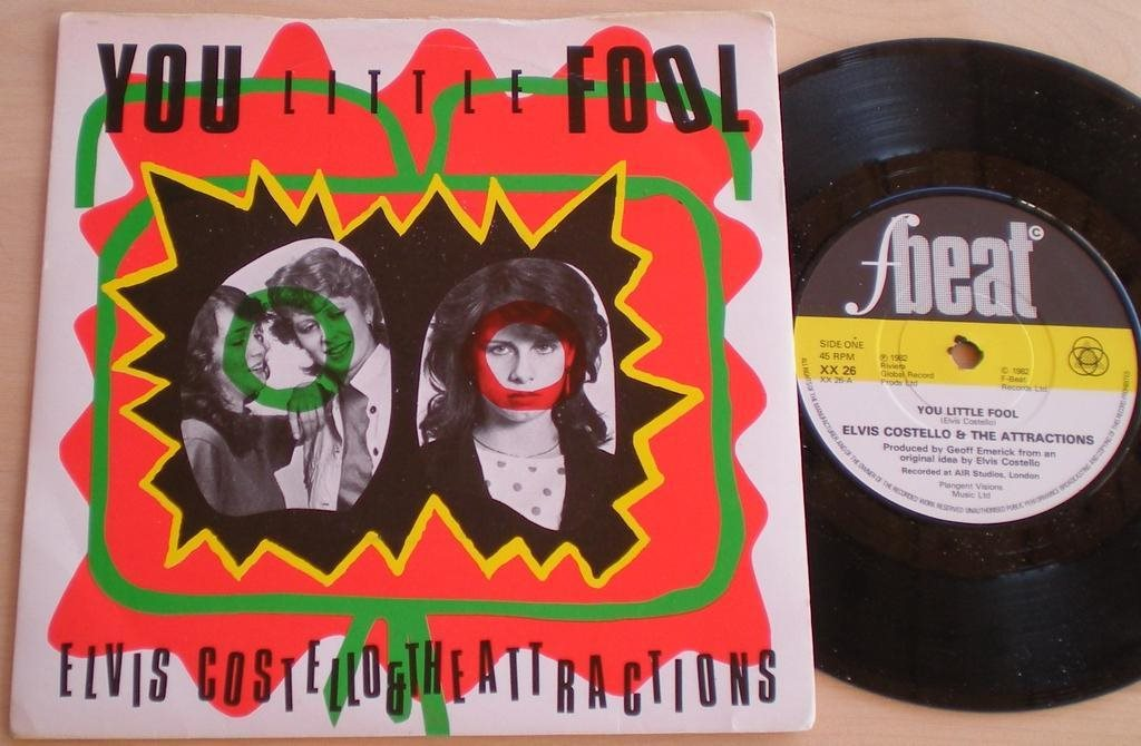 Elvis Costello EP/PS You little fool UK 1982 VG++