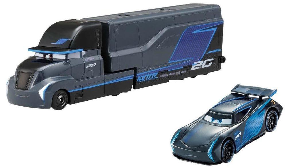 disney pixar cars 3 jackson storm gale beaufort hauler p. Black Bedroom Furniture Sets. Home Design Ideas