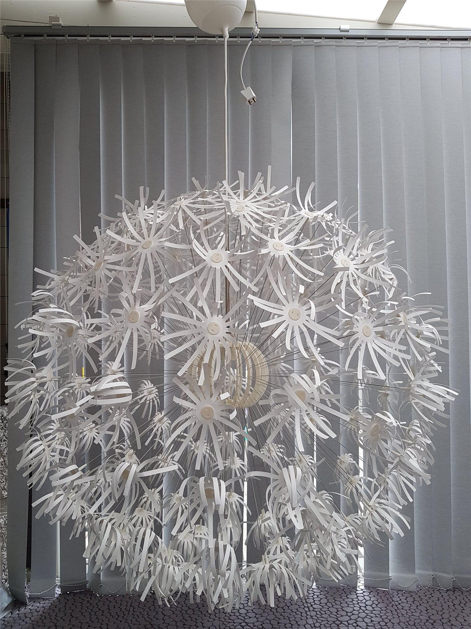 stort maskros taklampa ikea (322559975) ᐈ köp på tradera