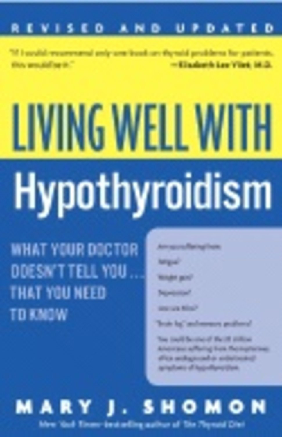 Living Well With Hypothyroidism 9780060740955