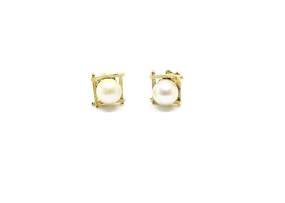 guldörhängen med pärla
