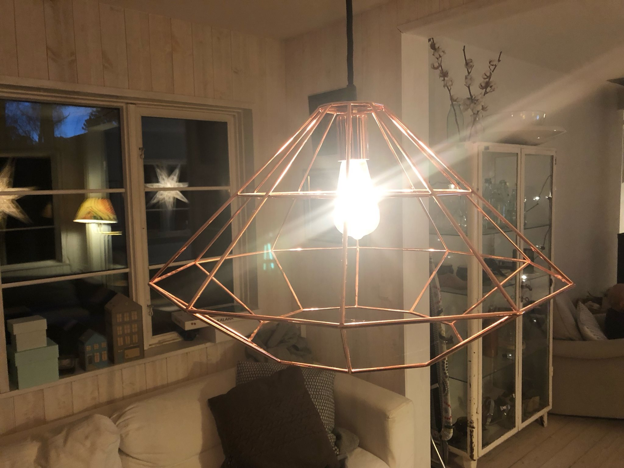 1 lampa från bloomingville. Kopparfärgad Kopparfärgad Kopparfärgad 243cdc