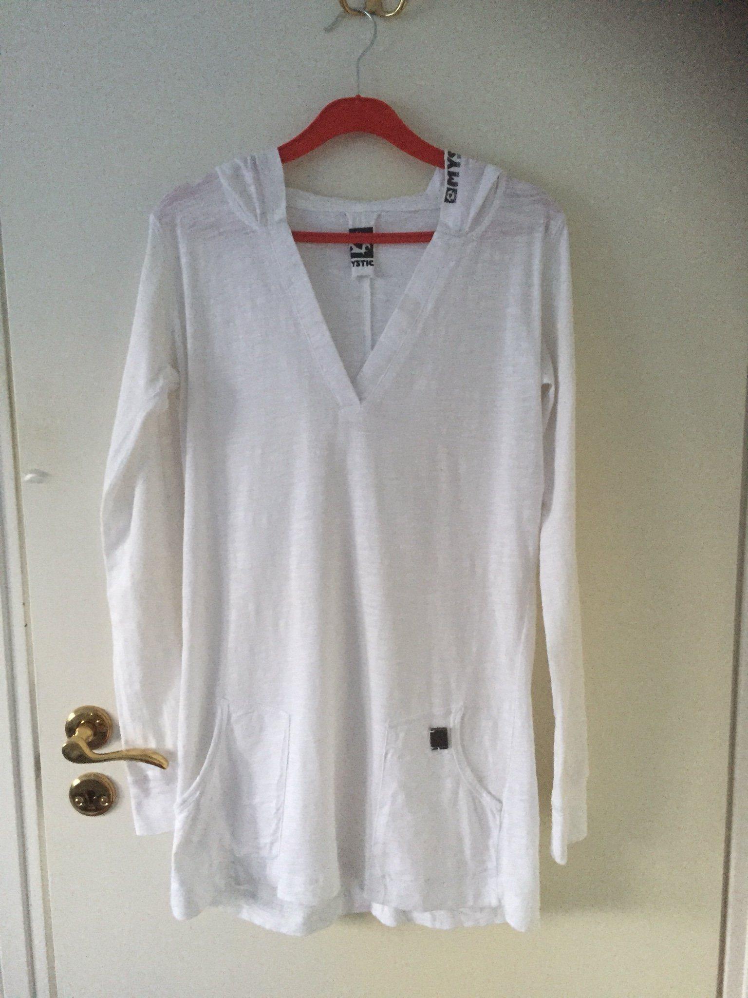 8a2888e30b83 Fin tunn vit tunika tröja med huva från Mystic .. (340469666) ᐈ Köp ...