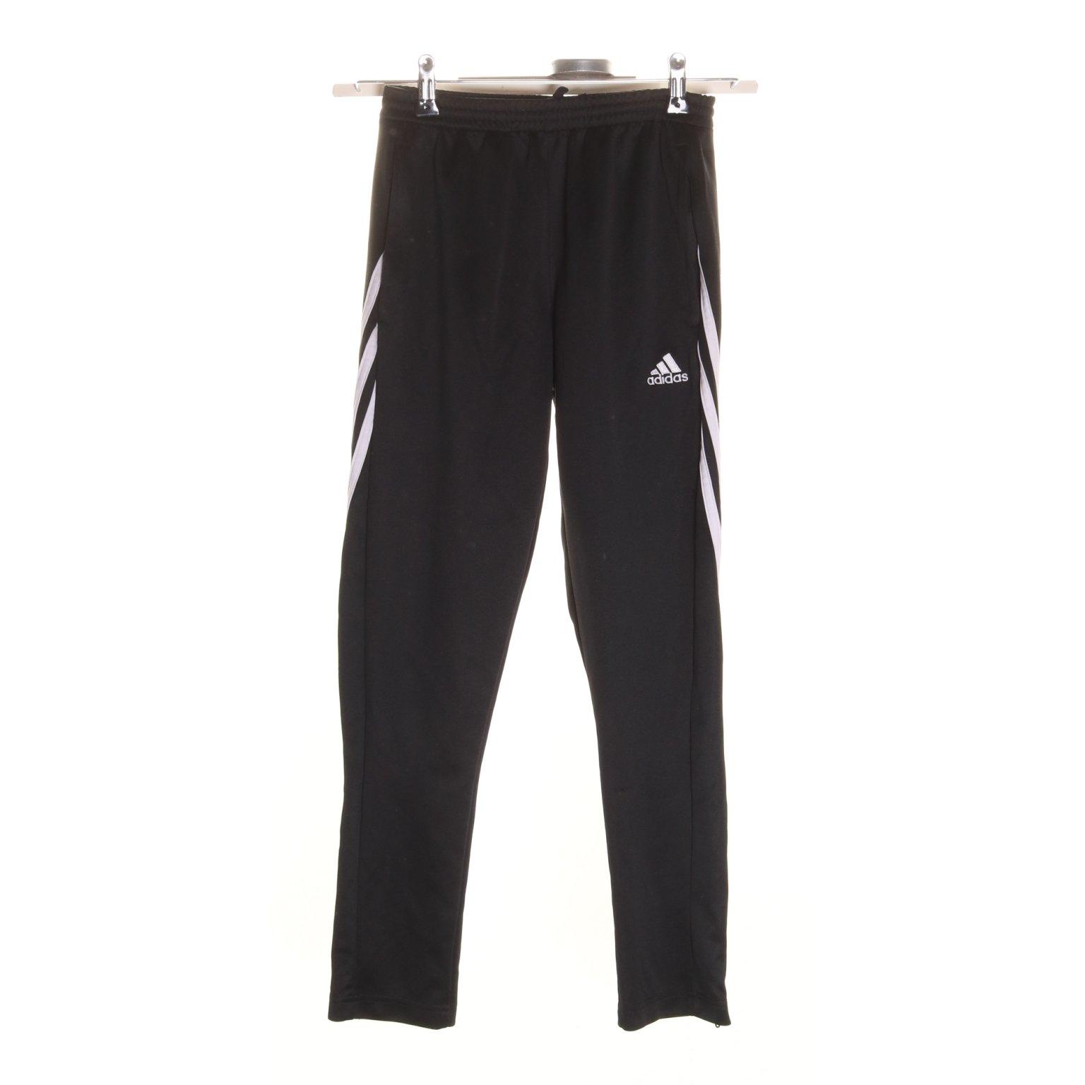 Adidas, Byxor, Strl: 152, SvartVit